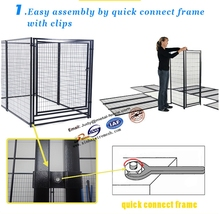 2015 Hot dipped Galvanized dog kennel/ pet cages for sale with low price