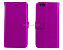 Purple first laywer cow leather case for iPhone6 Paypal