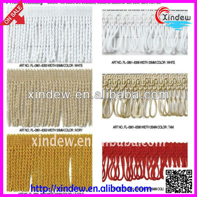 Fashion tassel fringe with good quality and any design