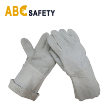 ABC SAFETY Best Manufacturers cheap grey split leather working welder gloves