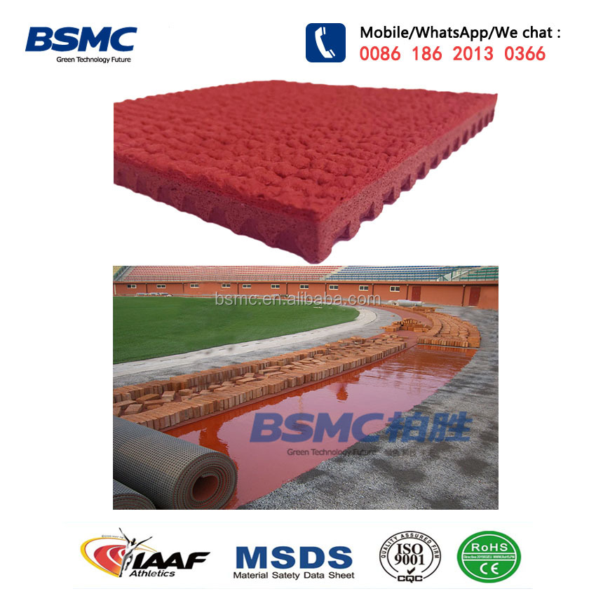 IAAF Certificate 13mm Thickness Prefabricated Tartan Rubber Running Track Material In Roll