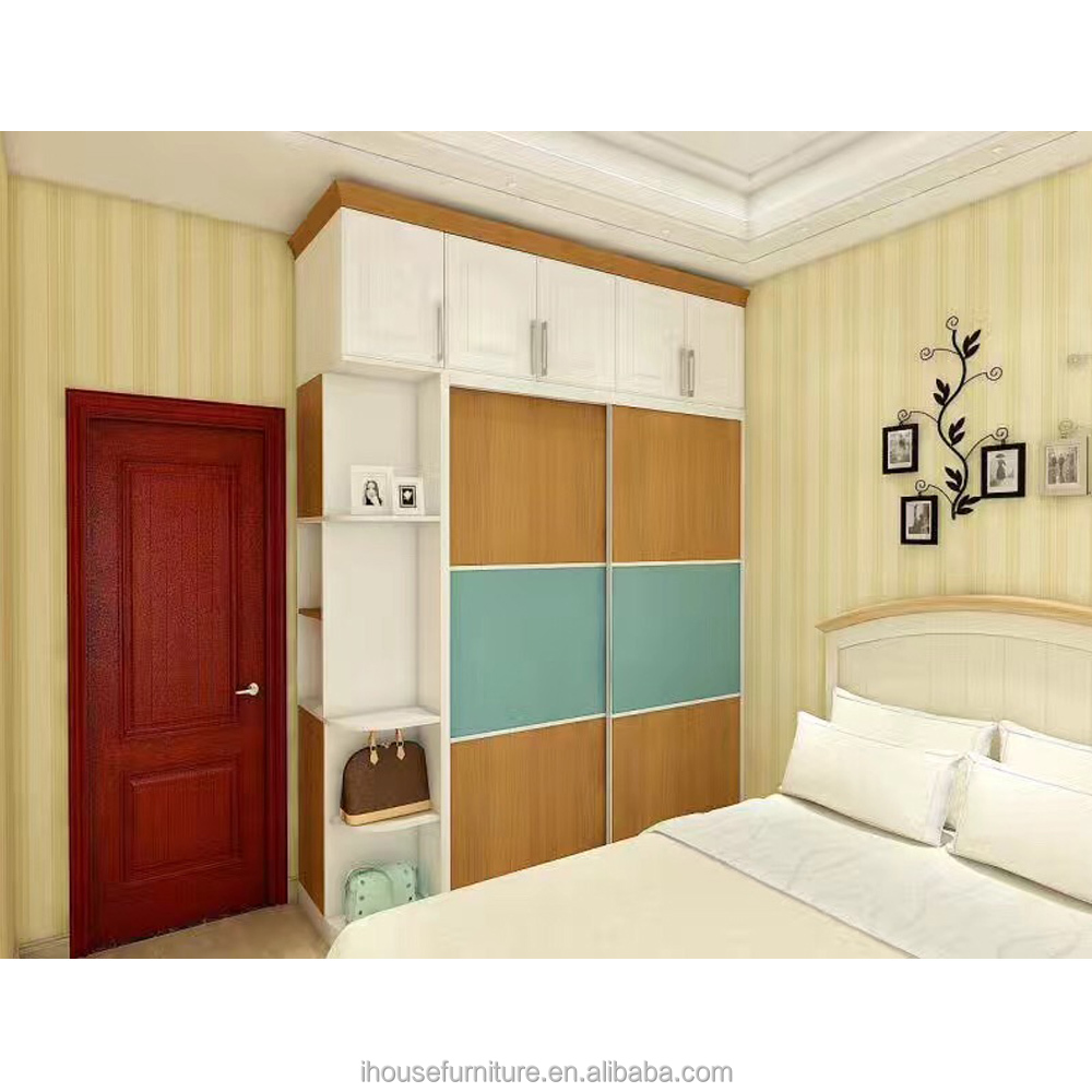 2016 Modern Wooden Almirah Designs In Bedroom/Modern Plywood Sliding Wardrobe