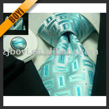 100% Silk Jacquard Woven Tie Clip With Custom Logo