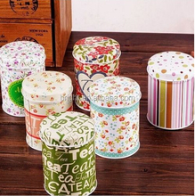 Empty tin can for tea storage metal round can