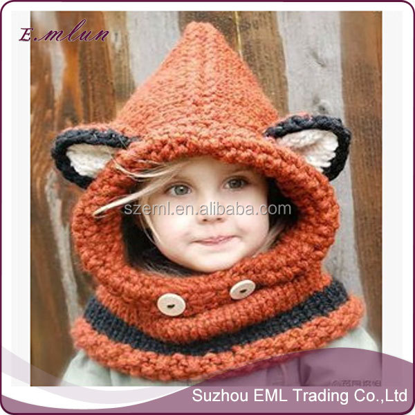 Manual wool knitting pirates horn hats child hat EML-12-W5005