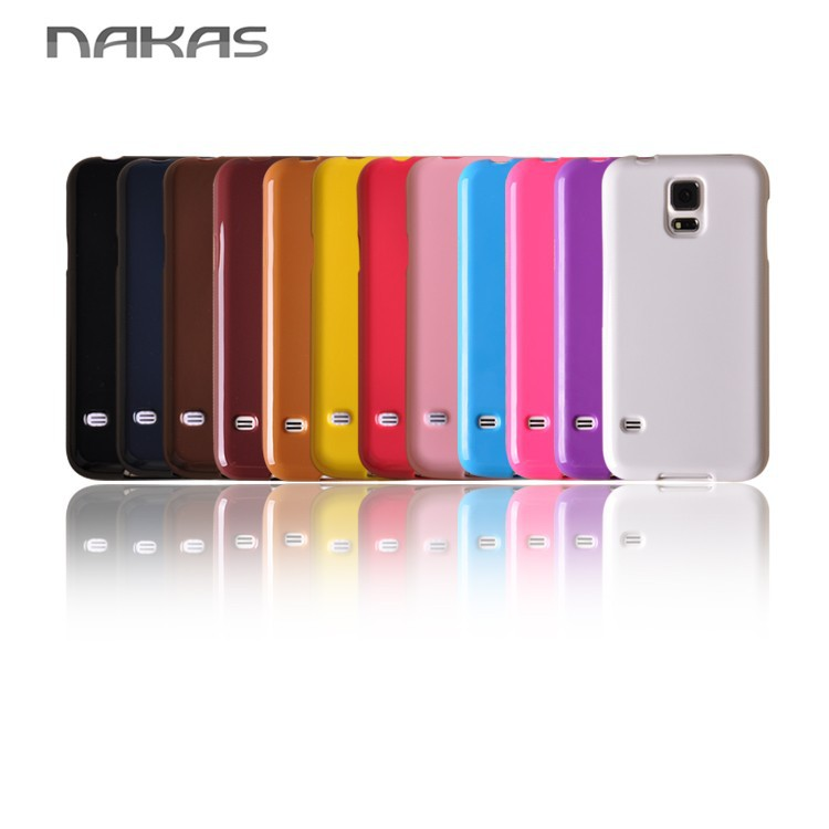 Glossy Soft tpu cases,solid color phone cases for samsung galaxy S5