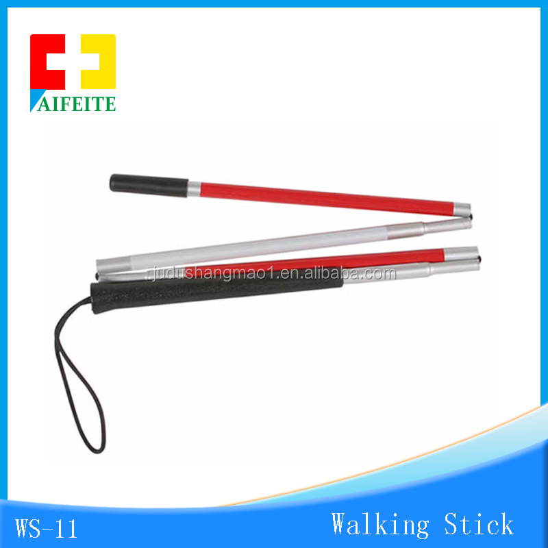 Electronic sound and light Collapsible Cane/medical walking stick for hot sale