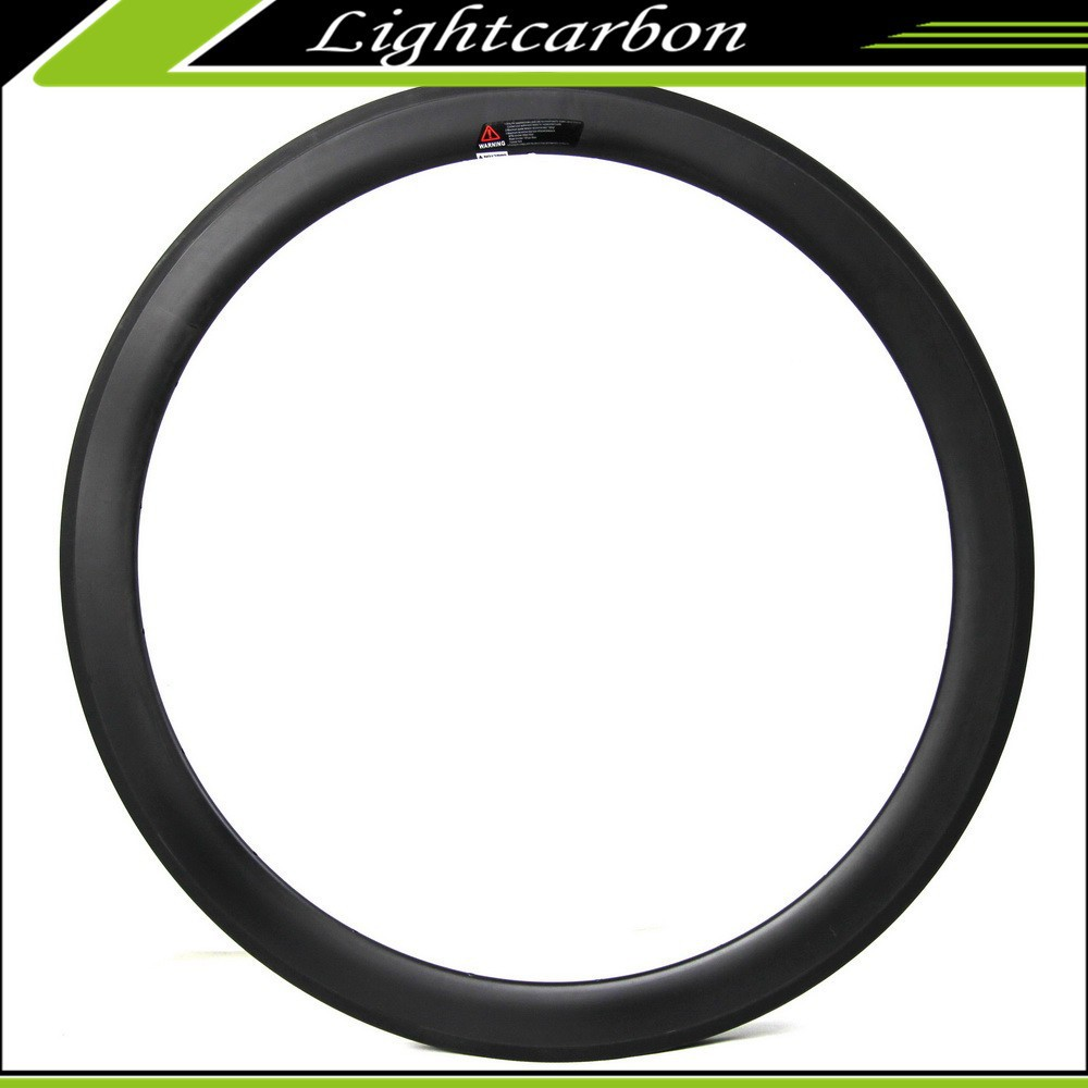 Latest Carbon Colored Road Bike Rims 700C oh Sale, Wide Aero V Shape Rims 50mm Tubular with Free Shipping