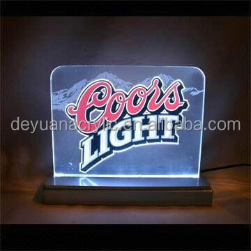 Acrylic sign holder led/ LED acrylic sign