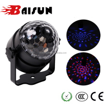 Guangzhou SanTu Professional Auto Sound 5W Mini Crystal Magic Ball RGB Color Change Good Effect Disco LED Bulb Stage Lighting