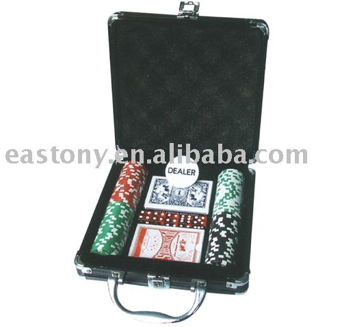 Poker Chips Sets ET-10D-A100R black case