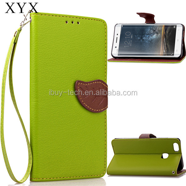 Wallet shape design using flip style unique stitching line cover for Vivo X Play 5 case
