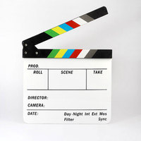 Handmade colorful movie clapperboard , acrylic film clapper board