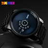 hot model jam tangan skmei terbaru #1171 metal mens black watch