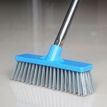 Floor Scrub <strong>Brush</strong> with Long Handle Stiff Bristle Tub and Tile Grout <strong>Brush</strong> Scrubber for Cleaning Bathroom