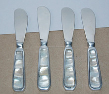 Assorted Cheese knife set of 4 with mother of pearl handle, Mother of Pearl cutlery