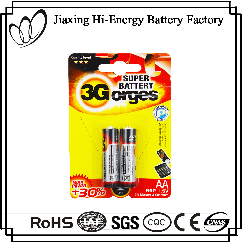 Hot Selling Dry Cell 1.5V AA R6 SUM3 Carbon Zinc Battery
