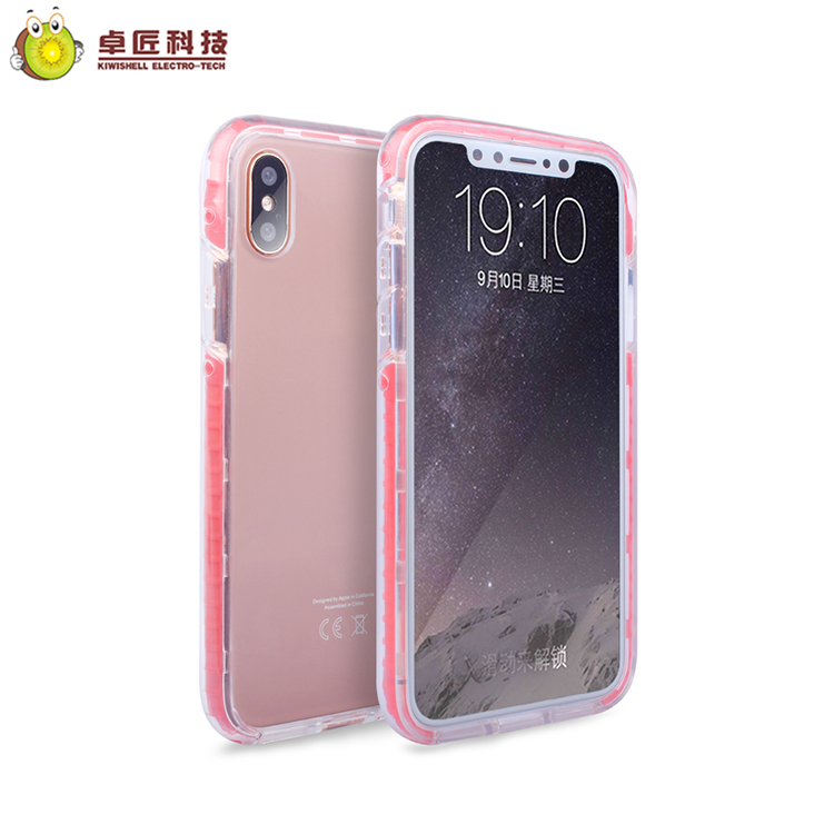 For iphone x hot case cover red, hybrid for iphone x hard plastic tpu pc clear case covers with bumper