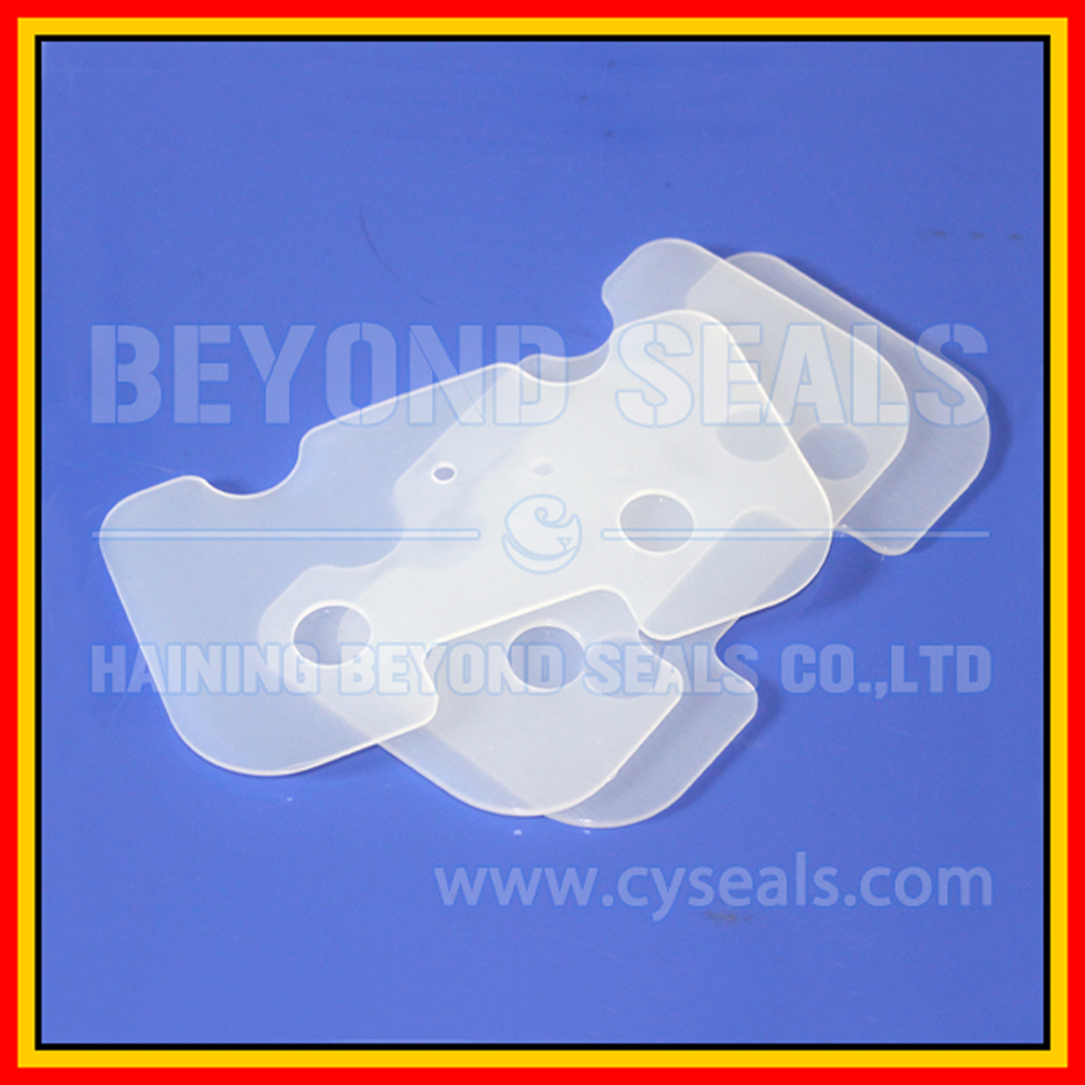 Custom Flat FDA food-grade Silicone Rubber Gasket for bottles lighting glass din pipe