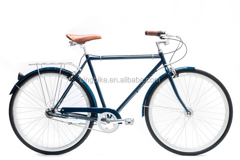 700C Hi-ten steel mens retro 700c city bike 3 speed bicycle