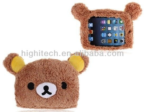 New 3D Plush Bear Protective Back Cover Case for Apple iPad Mini and retina