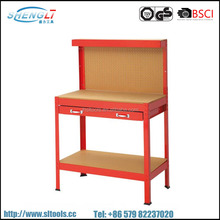 Steel Workshop work Table with Drawer Workbench metal Tool Cabinet