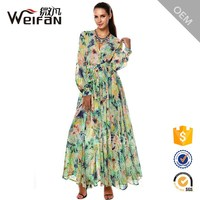 Bohemia Women Casual Dress Plus Size Indian Style Long Sleeve Muslim Maxi Dresses