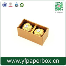 Two/three pieces storage small custom sizes chocolate boxes insert luxury packaging