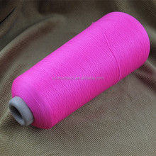 Spandex covered 100% polyester bright yarn