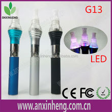 smoking pipes vapor G13 led light vaporizer pen blue wax & herbal vaporizer