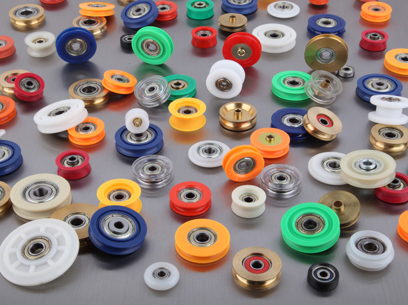 Round plastic nylon roller bearing wheel,sliding door bearing, bearing for sliding door,shower door bearing wheels