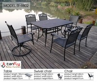 Creative rattan product stackable chair and swivel chair and table set