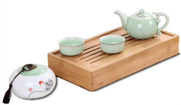 Cha pan High Quality Customizable Size traditional chinese bamboo tea tray