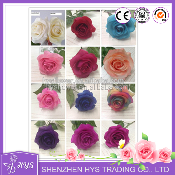 Shenzhen Multi Color Wholesale Factory directly home latex real touch artificial wedding decoration single rose <strong>flower</strong>