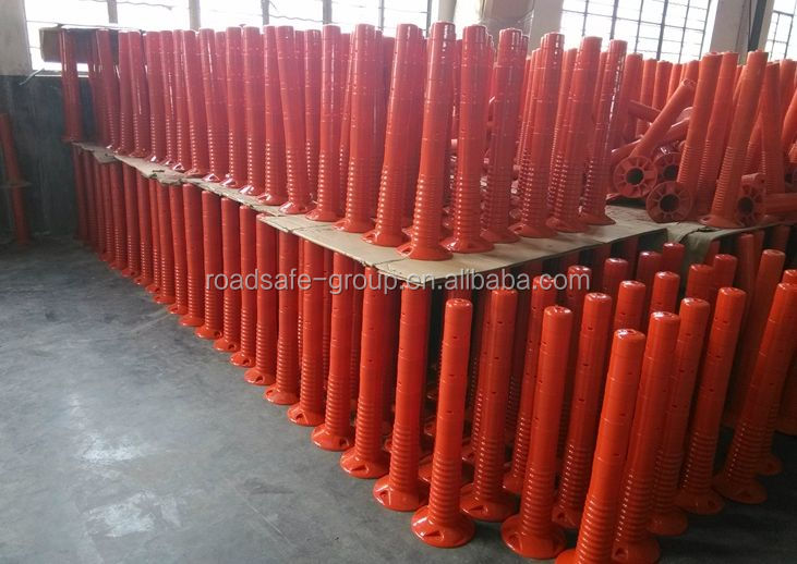 Pressure resistant Traffic safety Flexible EVA Spring Delineator Barrier Post