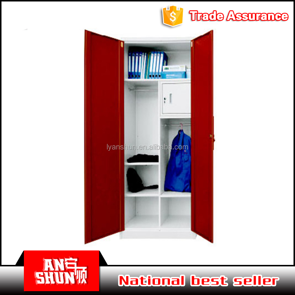 bedroom clothes hanging godrej steel or iron almirah cupboard designs