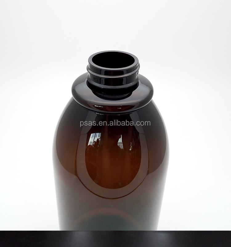 Free sample plastic amber lotion shampoo bottle hand wash bottle with lotion pump