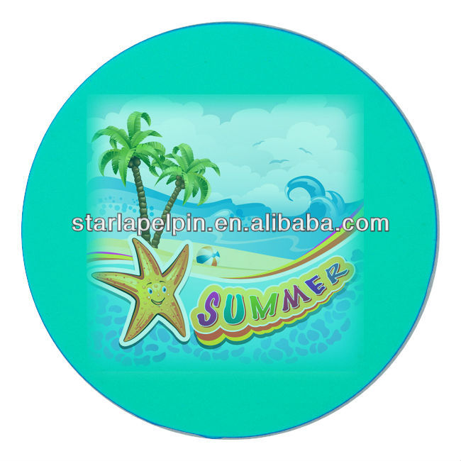 cheap souvenir custom logo printed round wedding favors glass coaster