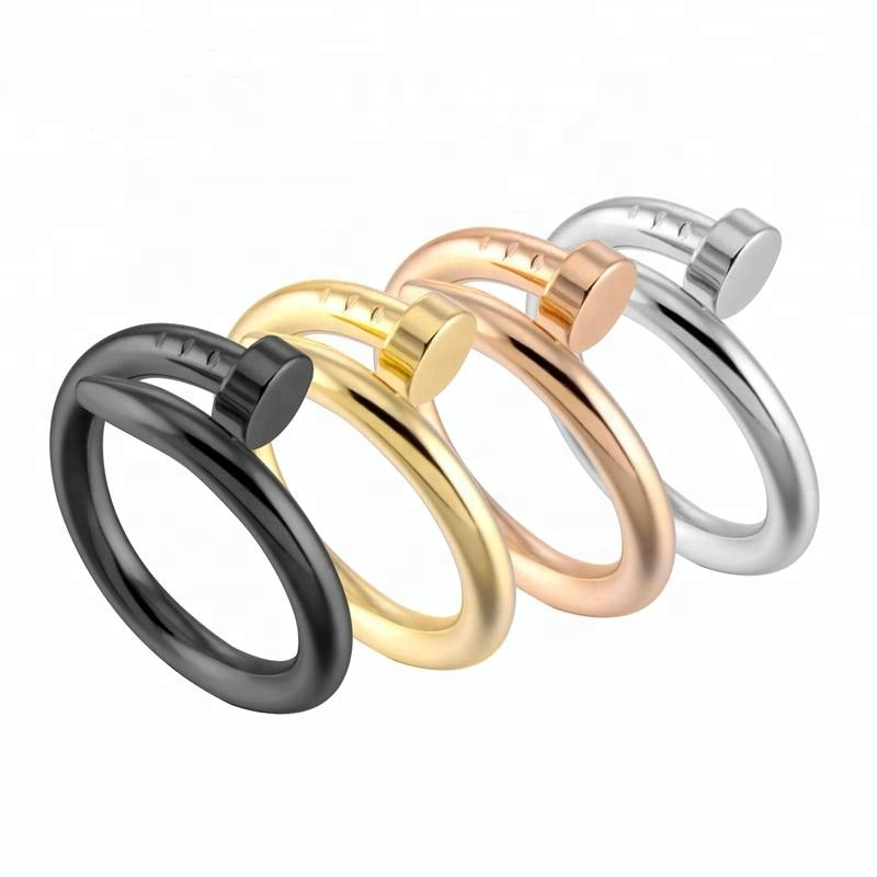 Stainless Steel Gold Plated Stainless Steel Nail <strong>Rings</strong>