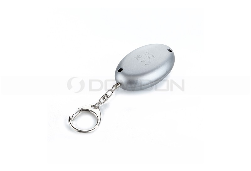 Pink Silver Portable Personal Safety Security Alarm Keychain LED Alarm