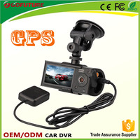 Best Selling Dash Camera Dual Cameras GPS DVR17 with night vision & G-sensor HD Road Safety Car Recorder / Car camera