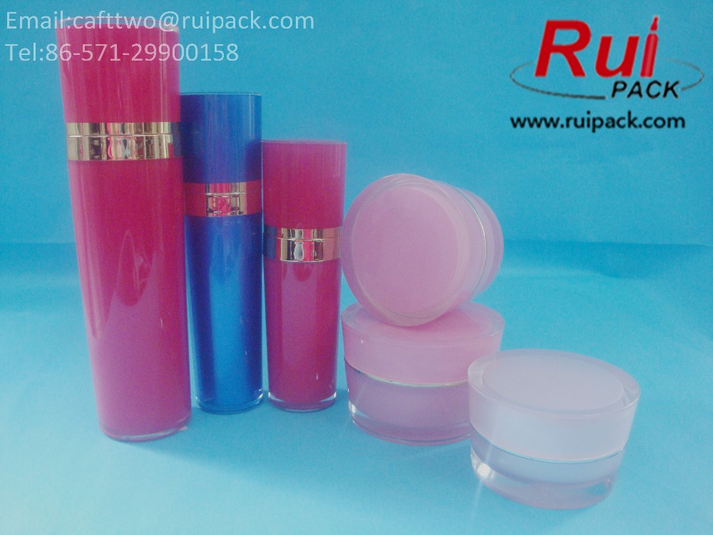 15/30/50/80/100/120ml matte pink classical round acrylic lotion bottle