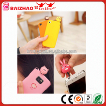 PVC ABS Silicone Vinyl anti dust plug hot selling mobile phone accessories