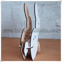 quality heat press MDF rabbit toys imprintable