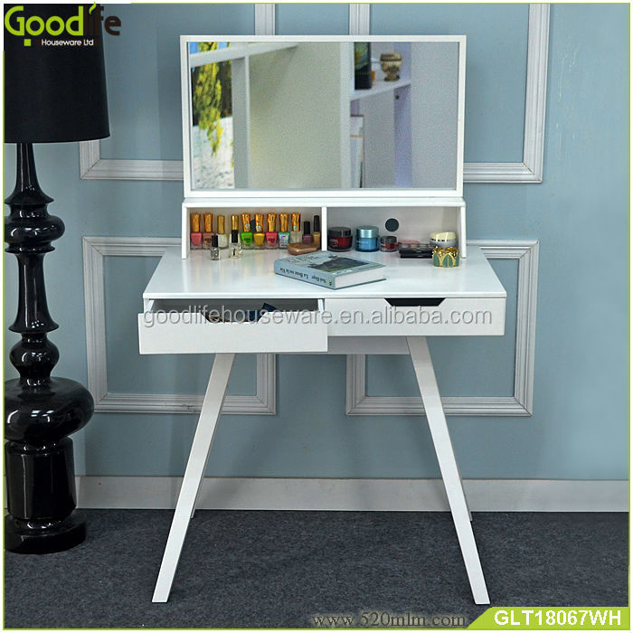 Make up table with wooden and mirror for girls