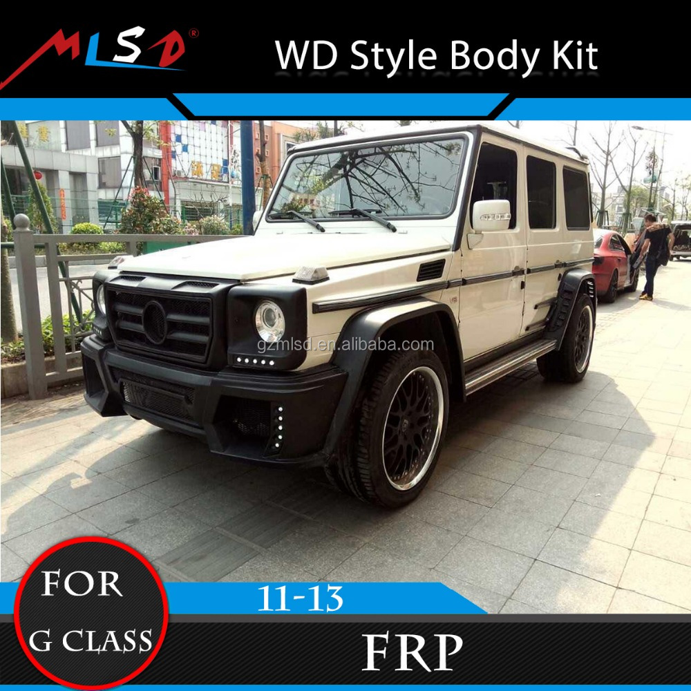 Auto Car Bumper High Quality FRP Material WD Style Body Kits for Mercedes G Class