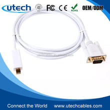 6ft Mini DP DisplayPort Thunderbolt Male to DVI VGA Cable for MacBook