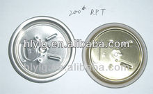 200# (50mm) aluminum can easy open end