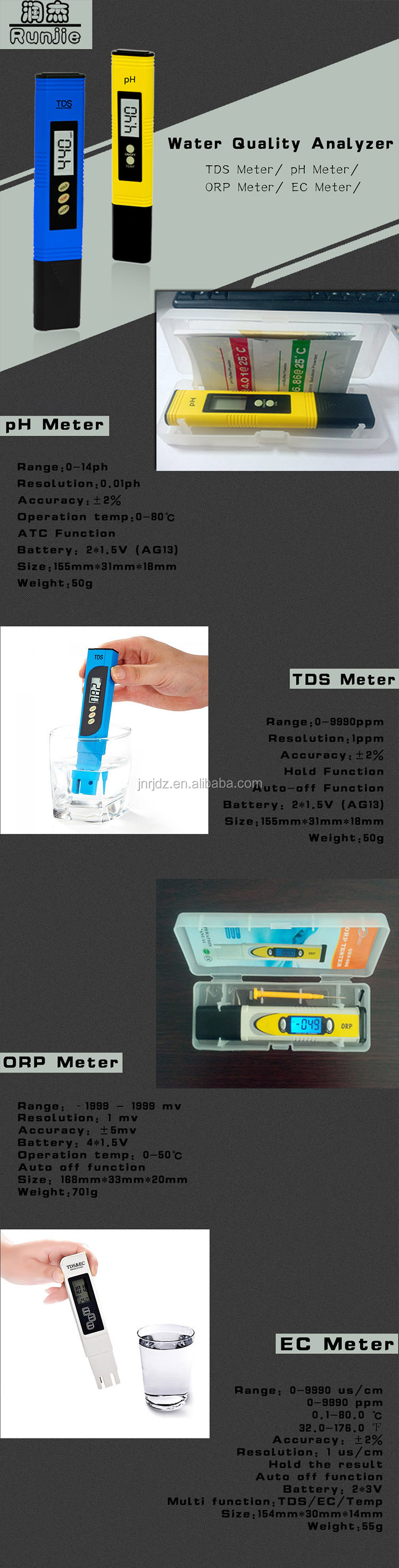 Multi-function PH/Temp swimming pool using ph meter