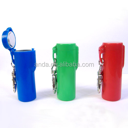 Plastic Pocket Cigarette Ashtray With Keychain